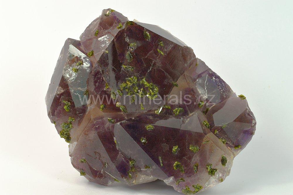 Minerál AMETYST, EPIDOT