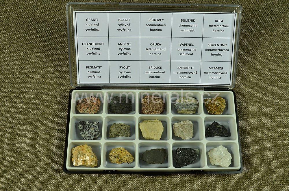 Minerál MINIKOLEKCE HORNIN 15 ks