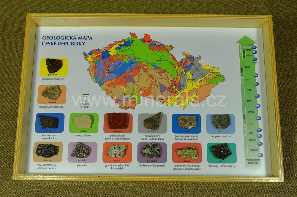 GEOLOGICKÁ MAPKA S HORNINAMI
