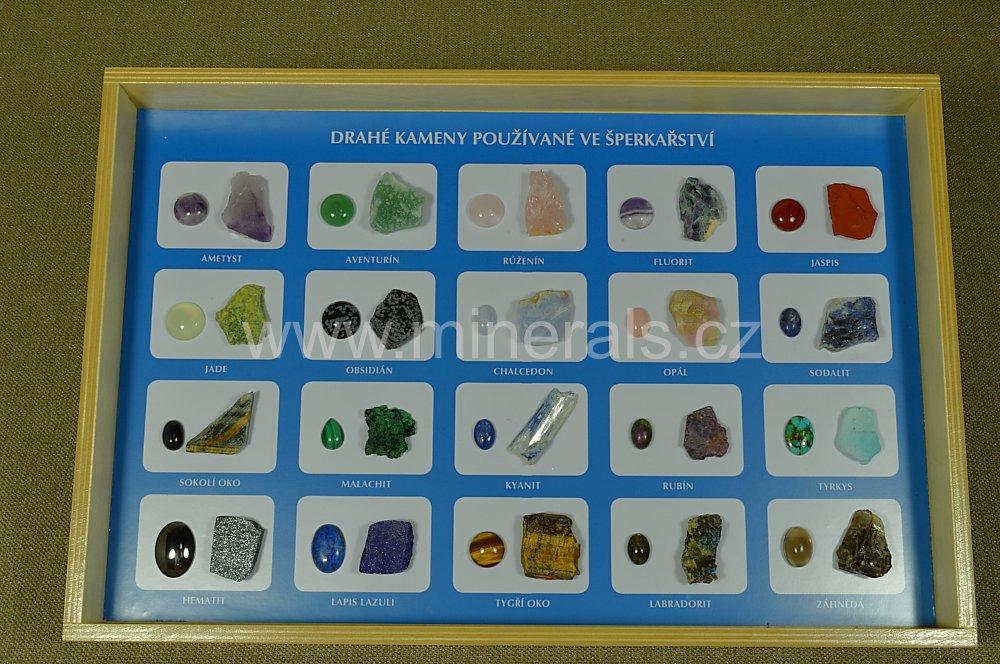 Minerál DRAHÉ KAMENY POUŽÍVANÉ VE ŠPERKAŘSTVÍ