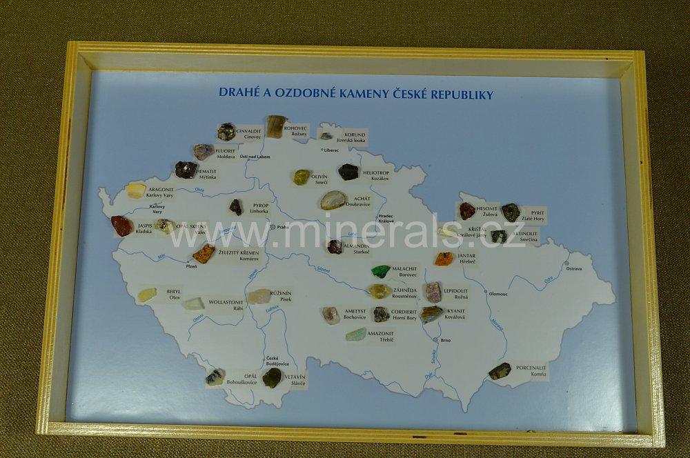 Minerál DRAHÉ A OZDOBNÉ KAMENY ČESKÉ REPUBLIKY