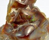 Minerál ACHÁT OHNIVÝ