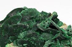 Minerál MALACHIT, pseudomorfóza po azuritu